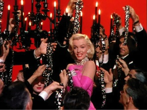 Marilyn Monroe in Howard Hawks' GENTLEMEN PREFER BLONDES (1953).