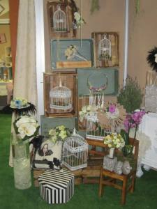 Detalle del stand de Flores para Novia en Fiesta y Boda.