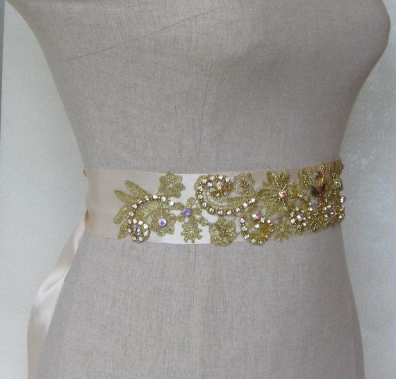 cinturones dorados para vestidos de novia – vestidos para bodas